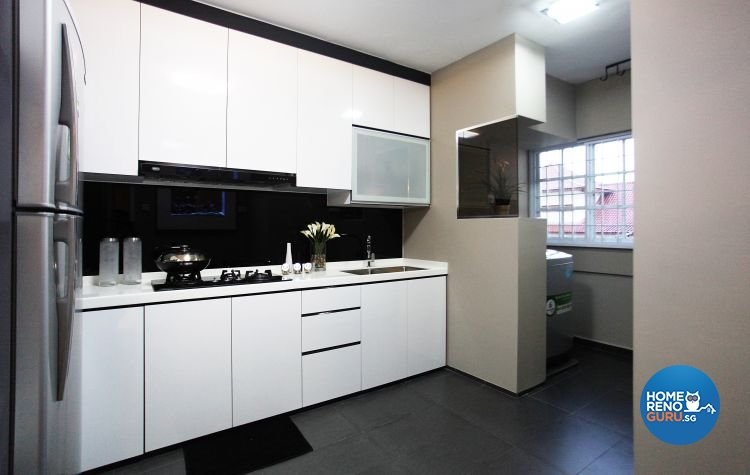 Contemporary, Modern Design - Kitchen - HDB Executive Apartment - Design by Lux Design Pte Ltd