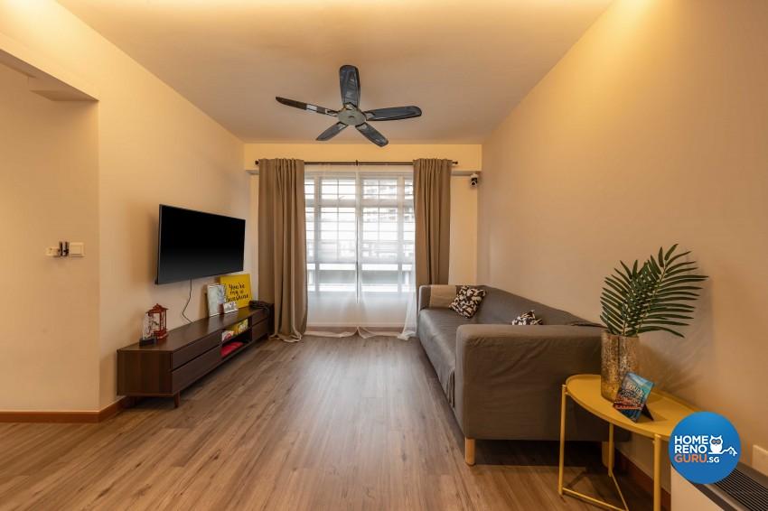 Contemporary Design - Living Room - HDB 4 Room - Design by Luxurious Design Pte Ltd