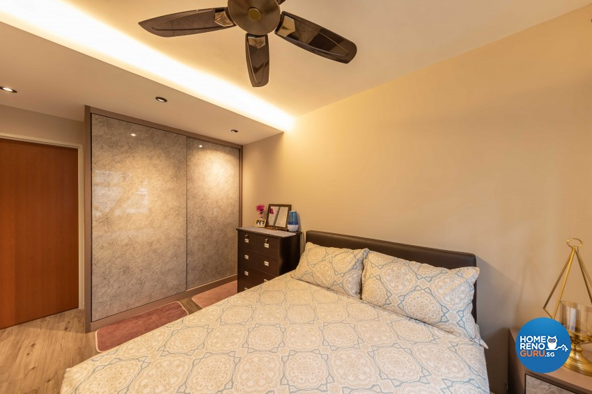 Contemporary Design - Bedroom - HDB 4 Room - Design by Luxurious Design Pte Ltd