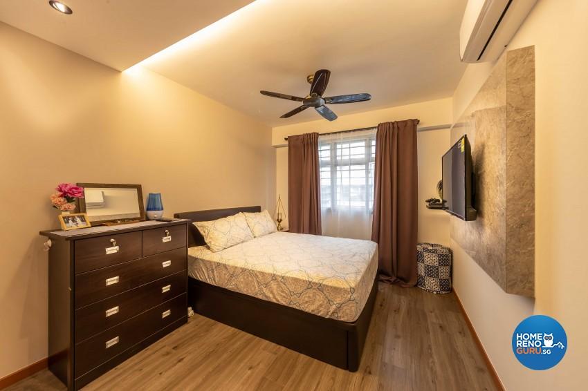 Contemporary Design - Bedroom - HDB 4 Room - Design by Luxurious Design Pte Ltd