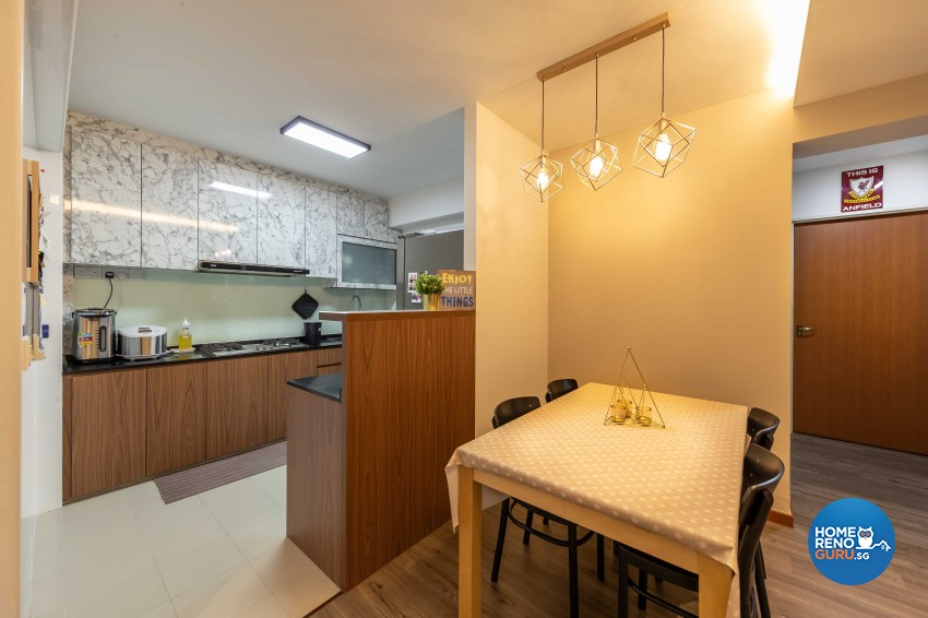Contemporary Design - Dining Room - HDB 4 Room - Design by Luxurious Design Pte Ltd