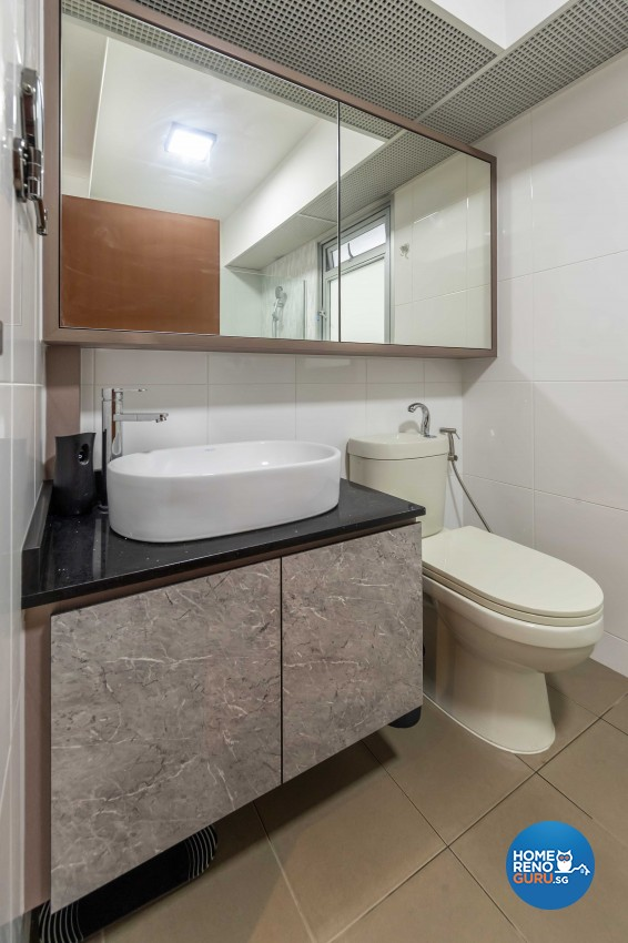 Contemporary Design - Bathroom - HDB 4 Room - Design by Luxurious Design Pte Ltd