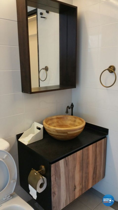 Industrial, Modern, Resort Design - Bathroom - HDB 5 Room - Design by Luxurious Design Pte Ltd