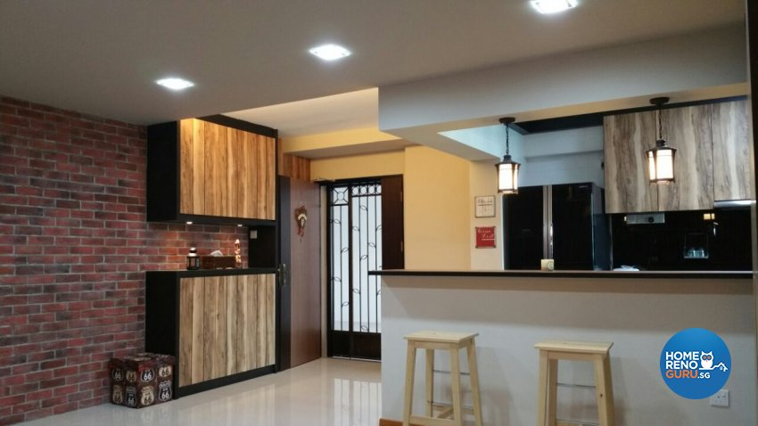 Industrial, Modern, Resort Design - Kitchen - HDB 5 Room - Design by Luxurious Design Pte Ltd