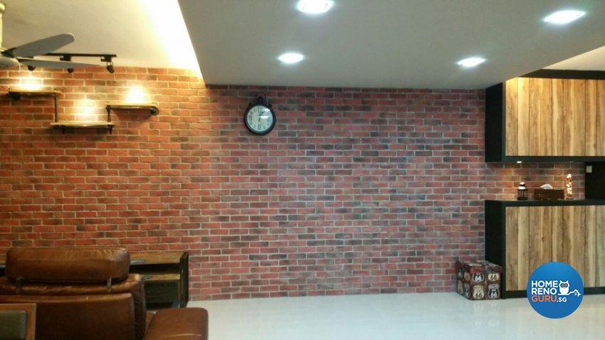 Industrial, Modern, Resort Design - Living Room - HDB 5 Room - Design by Luxurious Design Pte Ltd