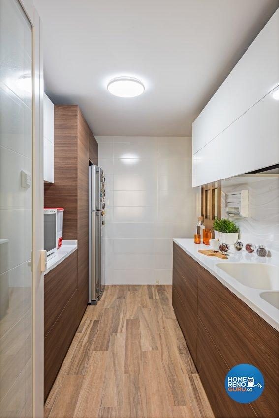 Industrial, Modern, Resort Design - Kitchen - HDB 5 Room - Design by Luxurious Design Pte Ltd