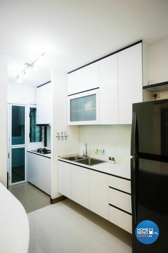 Modern Design - Kitchen - HDB 5 Room - Design by Luxurious Design Pte Ltd
