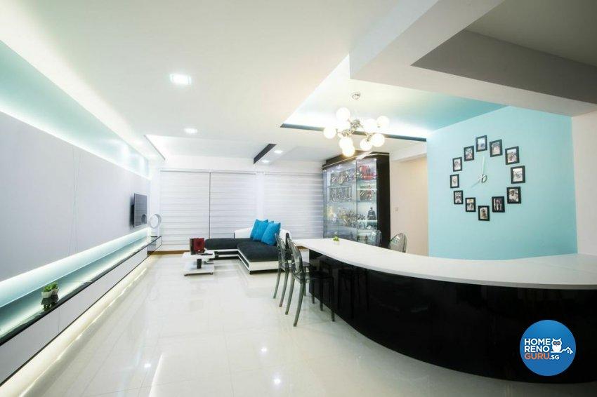 Modern Design - Living Room - HDB 5 Room - Design by Luxurious Design Pte Ltd