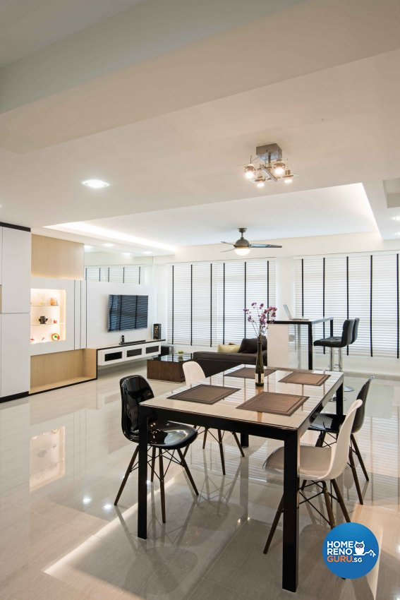 Modern Design - Dining Room - HDB 5 Room - Design by Luxurious Design Pte Ltd