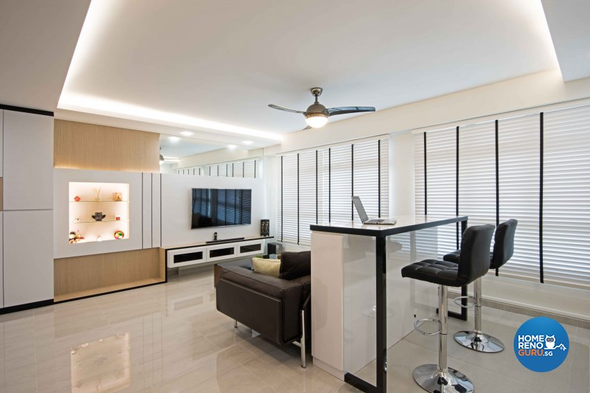 Modern Design - Living Room - HDB 5 Room - Design by Luxurious Design Pte Ltd