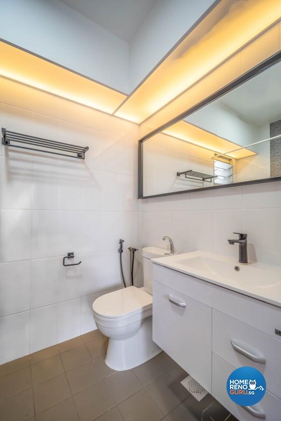 Minimalist, Scandinavian Design - Bathroom - HDB 4 Room - Design by Luxurious Design Pte Ltd