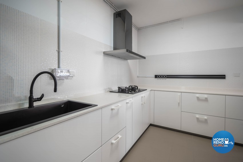 Minimalist, Scandinavian Design - Kitchen - HDB 4 Room - Design by Luxurious Design Pte Ltd
