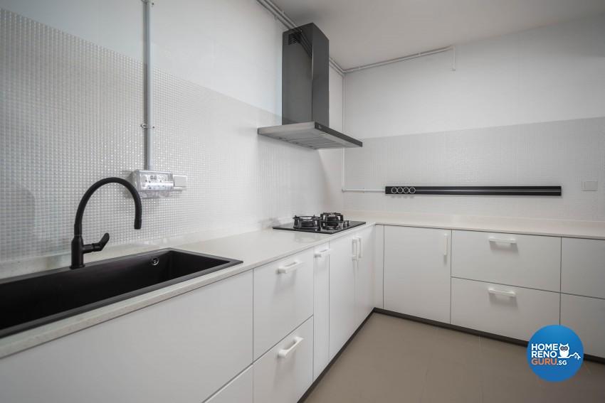 Minimalist, Scandinavian Design - Kitchen - HDB 4 Room - Design by Luxurious Design Pte Ltd