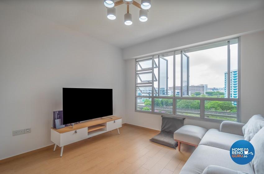 Minimalist, Scandinavian Design - Living Room - HDB 4 Room - Design by Luxurious Design Pte Ltd