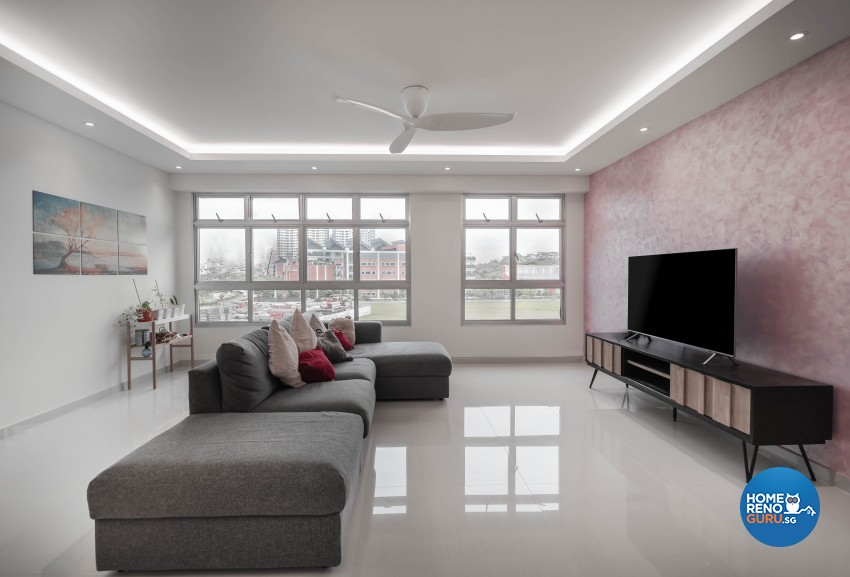 Minimalist Design - Living Room - HDB 5 Room - Design by Luxurious Design Pte Ltd