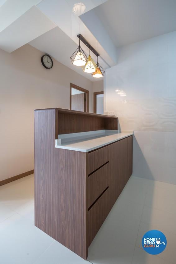 Vintage Design - Kitchen - HDB 3 Room - Design by Luxurious Design Pte Ltd