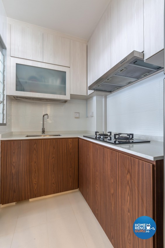 Vintage Design - Kitchen - HDB 3 Room - Design by Luxurious Design Pte Ltd