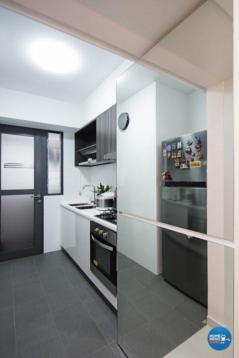 Modern Design - Kitchen - HDB 4 Room - Design by Luxurious Design Pte Ltd