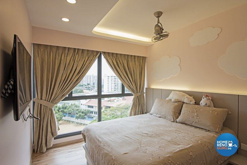 Modern Design - Bedroom - HDB 4 Room - Design by Luxurious Design Pte Ltd