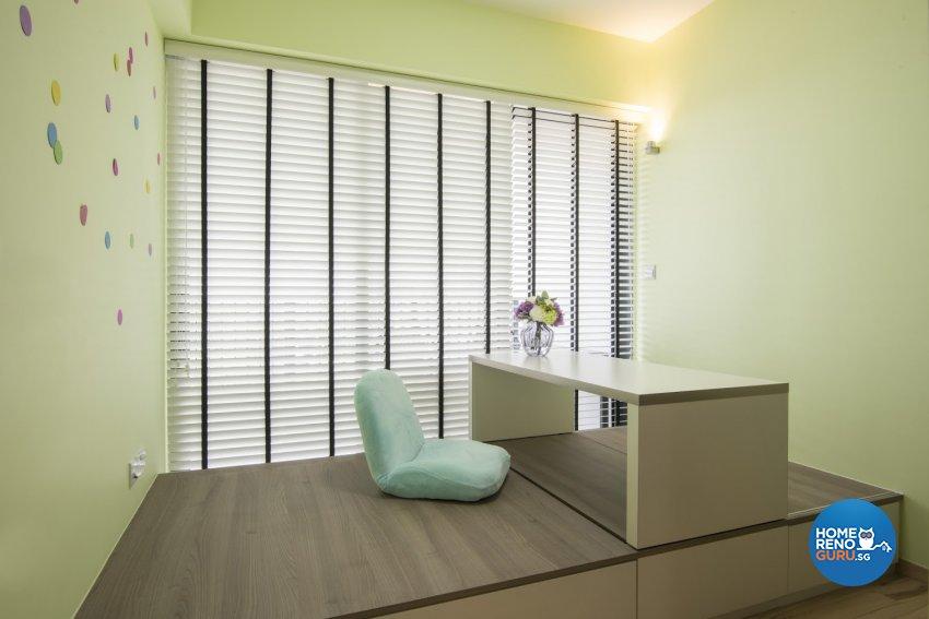 Modern Design - Entertainment Room - HDB 4 Room - Design by Luxurious Design Pte Ltd