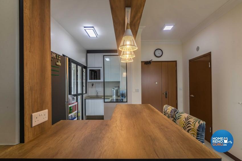 Contemporary Design - Kitchen - HDB 3 Room - Design by Luxurious Design Pte Ltd