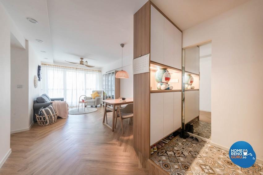 Modern Design - Living Room - HDB 4 Room - Design by Luxurious Design Pte Ltd