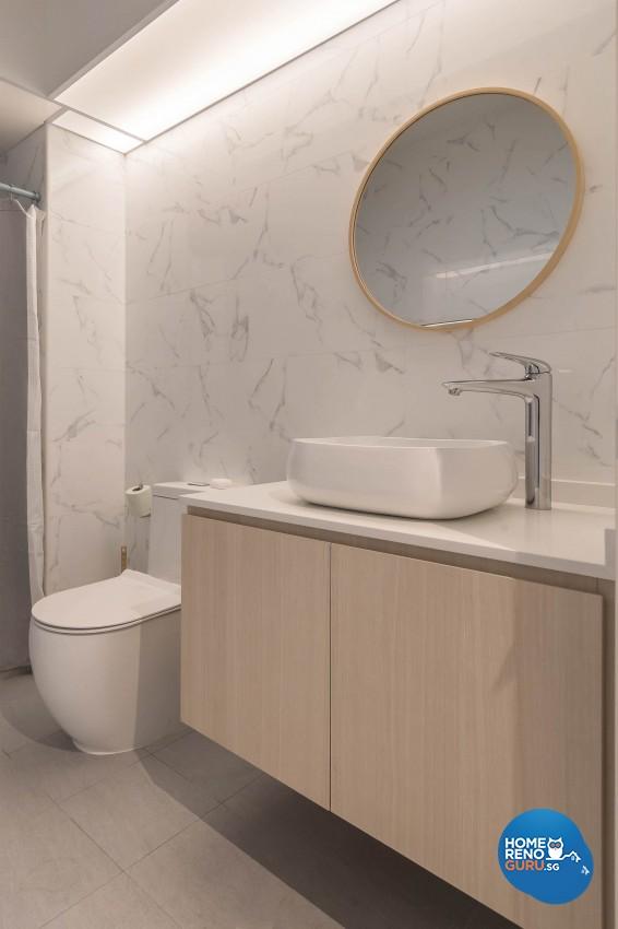 Modern Design - Bathroom - HDB 4 Room - Design by Luxurious Design Pte Ltd