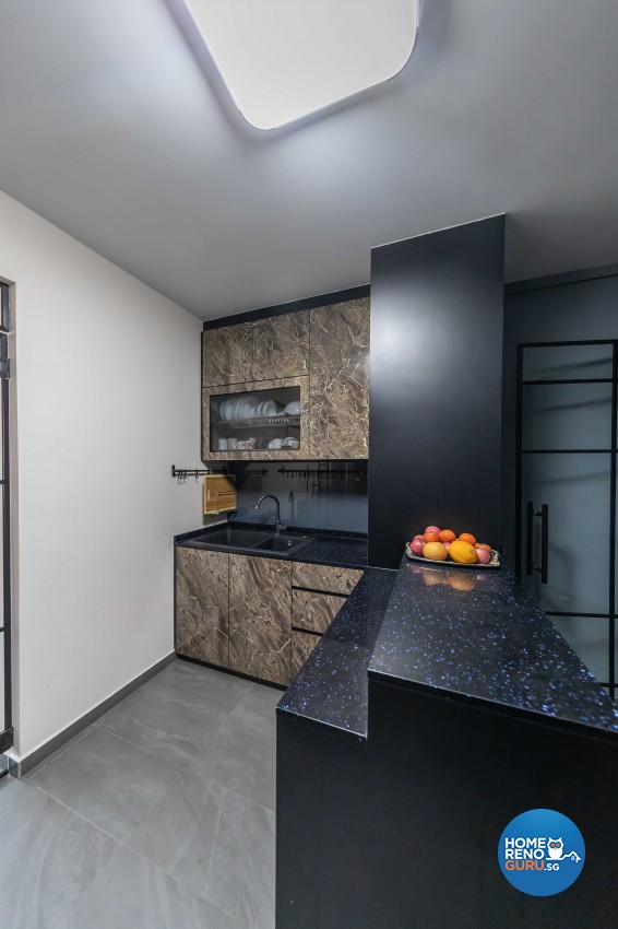 Modern Design - Kitchen - HDB Executive Apartment - Design by Luxurious Design Pte Ltd