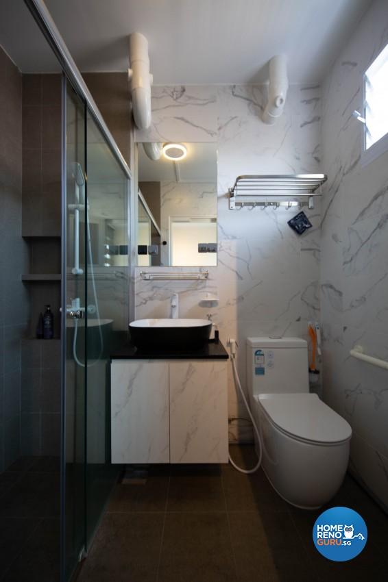 Modern, Scandinavian Design - Bathroom - HDB 4 Room - Design by Luxurious Design Pte Ltd