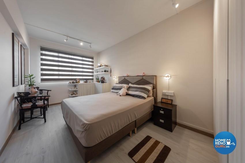 Modern, Scandinavian Design - Bedroom - HDB 4 Room - Design by Luxurious Design Pte Ltd