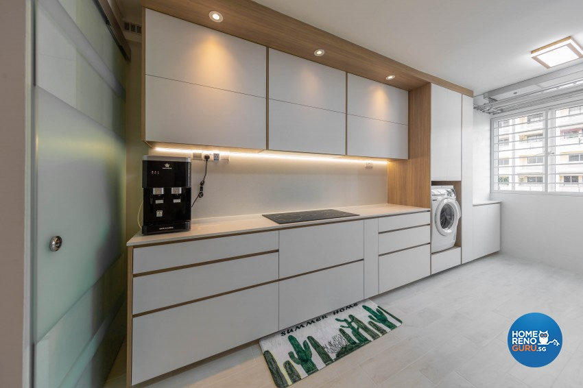 Modern, Scandinavian Design - Kitchen - HDB 4 Room - Design by Luxurious Design Pte Ltd
