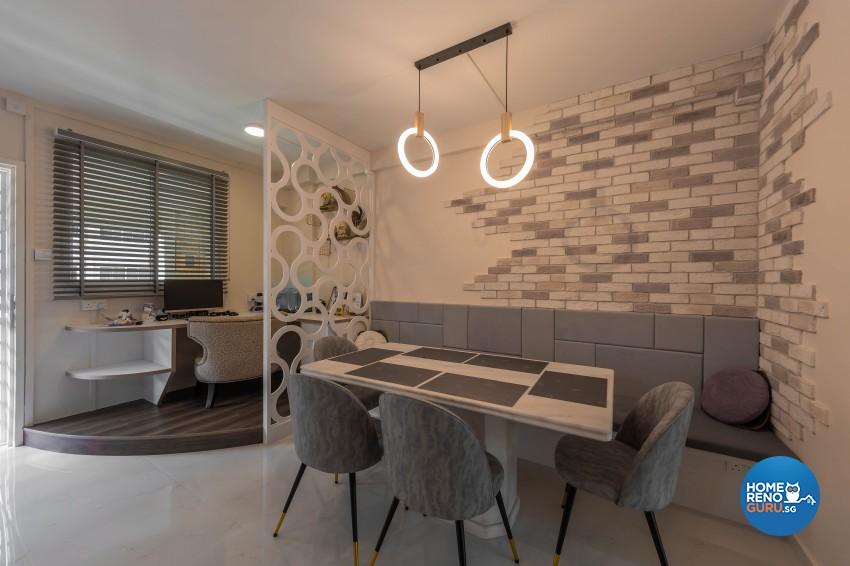 Modern, Scandinavian Design - Dining Room - HDB 4 Room - Design by Luxurious Design Pte Ltd