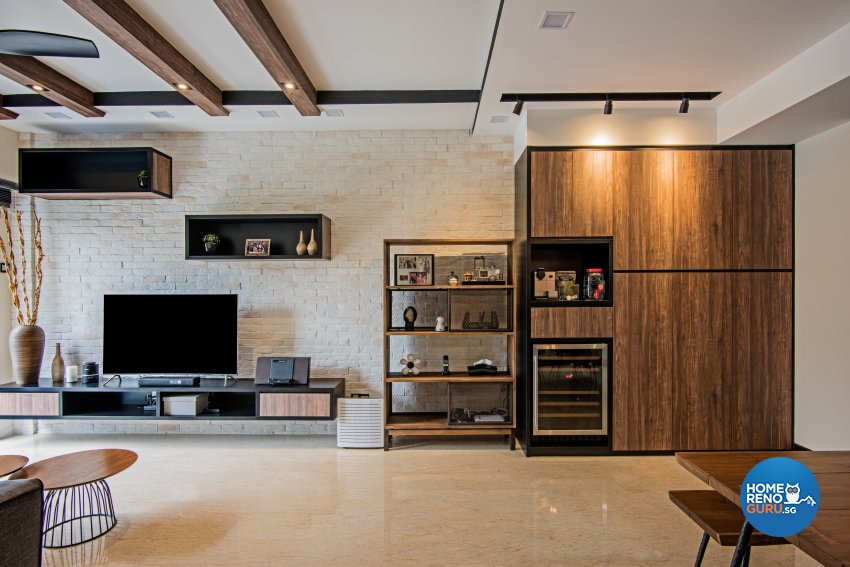 Eclectic, Industrial, Modern Design - Living Room - Condominium - Design by Luxurious Design Pte Ltd