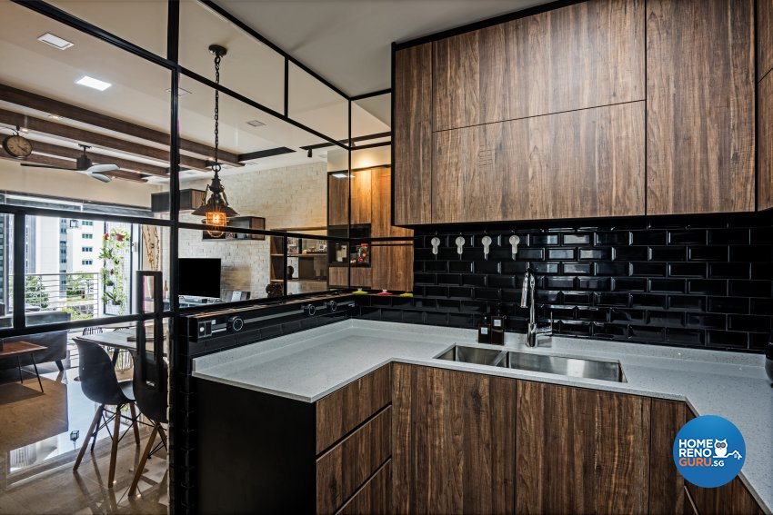 Eclectic, Industrial, Modern Design - Kitchen - Condominium - Design by Luxurious Design Pte Ltd