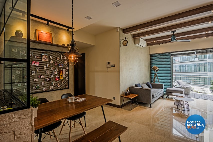 Eclectic, Industrial, Modern Design - Dining Room - Condominium - Design by Luxurious Design Pte Ltd