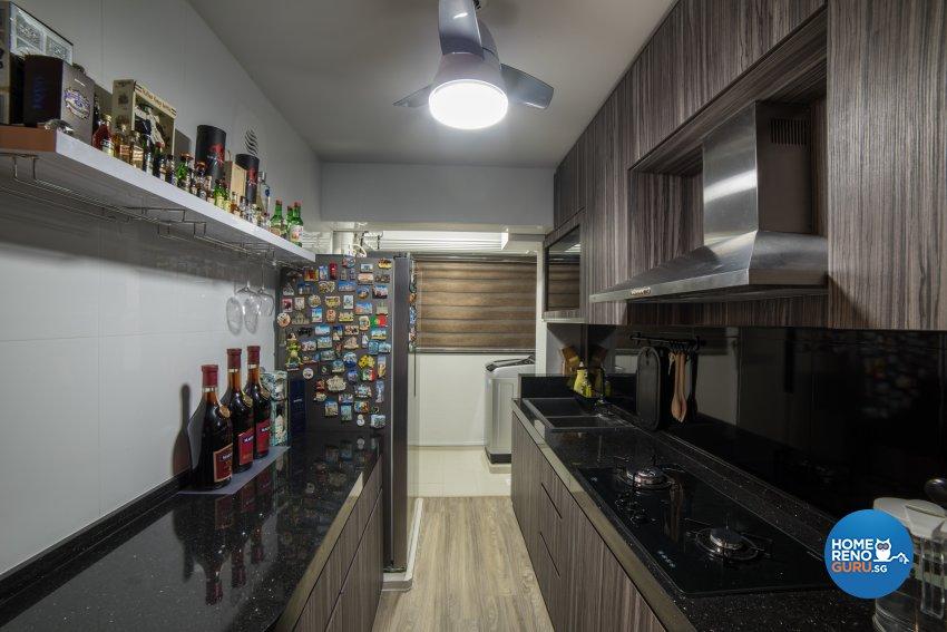 Contemporary, Oriental Design - Kitchen - HDB 4 Room - Design by Luxurious Design Pte Ltd