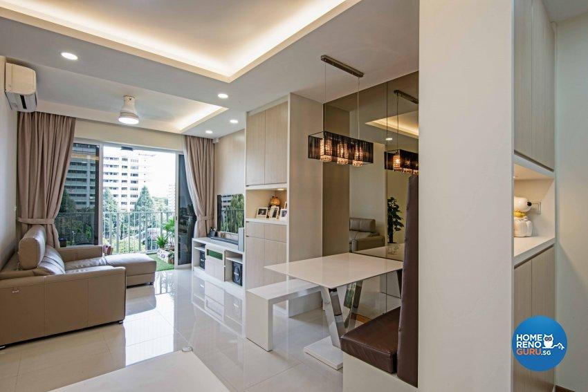 Contemporary, Modern Design - Living Room - Condominium - Design by Luxurious Design Pte Ltd