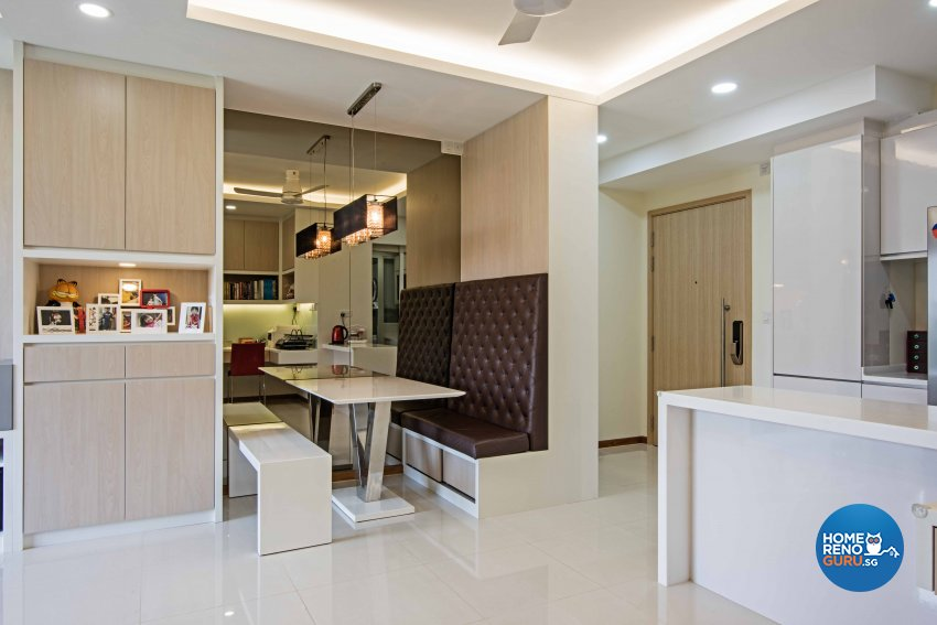 Contemporary, Modern Design - Dining Room - Condominium - Design by Luxurious Design Pte Ltd