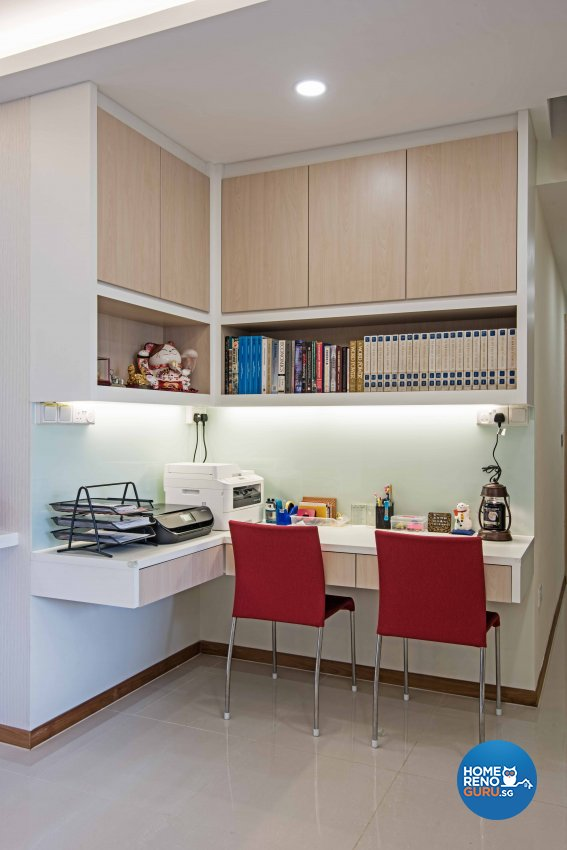 Contemporary, Modern Design - Study Room - Condominium - Design by Luxurious Design Pte Ltd