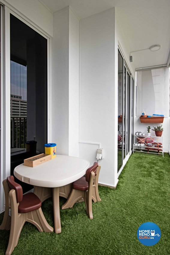 Contemporary, Modern Design - Balcony - Condominium - Design by Luxurious Design Pte Ltd