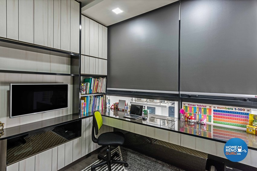 Contemporary, Modern Design - Study Room - Condominium - Design by Luxurious Design Pte Ltd