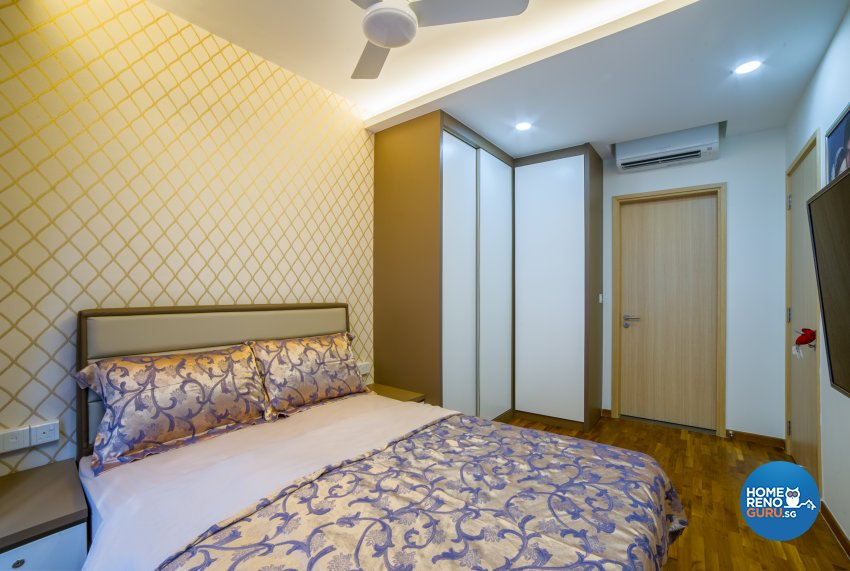 Classical, Contemporary Design - Bedroom - HDB Executive Apartment - Design by Luxurious Design Pte Ltd