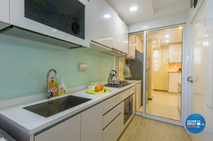 Classical, Contemporary Design - Kitchen - HDB Executive Apartment - Design by Luxurious Design Pte Ltd