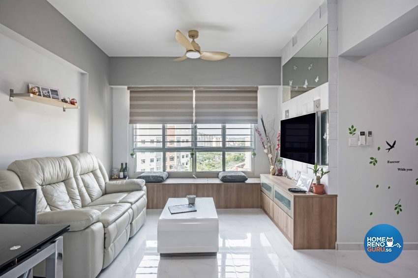 Contemporary Design - Living Room - HDB 3 Room - Design by Luxurious Design Pte Ltd