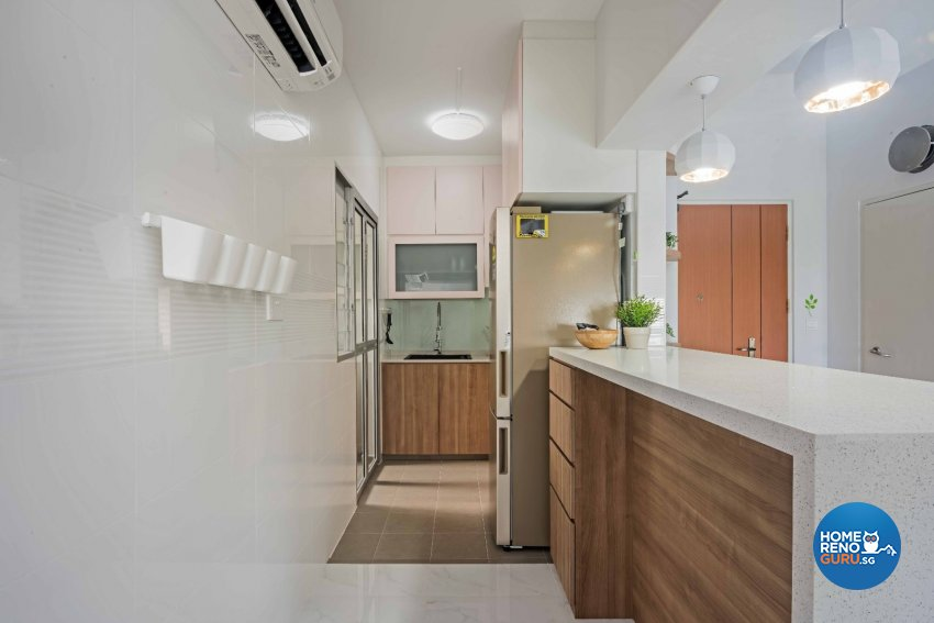 Contemporary Design - Kitchen - HDB 3 Room - Design by Luxurious Design Pte Ltd