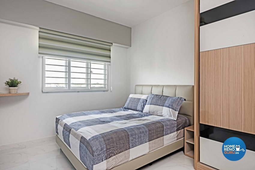 Contemporary Design - Bedroom - HDB 3 Room - Design by Luxurious Design Pte Ltd