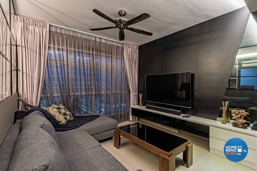 Contemporary, Modern, Tropical Design - Living Room - HDB 3 Room - Design by Luxurious Design Pte Ltd