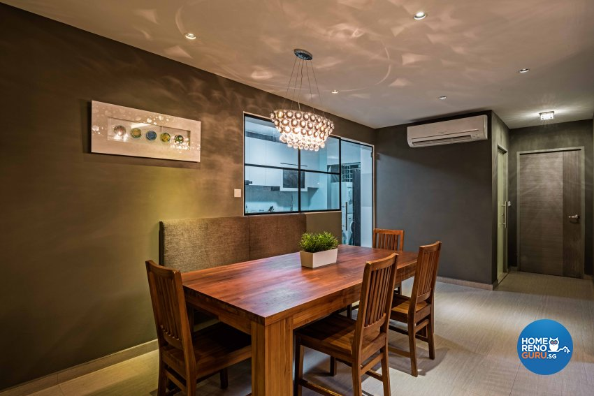 Contemporary, Modern, Tropical Design - Dining Room - HDB 3 Room - Design by Luxurious Design Pte Ltd