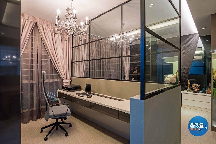 Contemporary, Modern, Tropical Design - Study Room - HDB 3 Room - Design by Luxurious Design Pte Ltd
