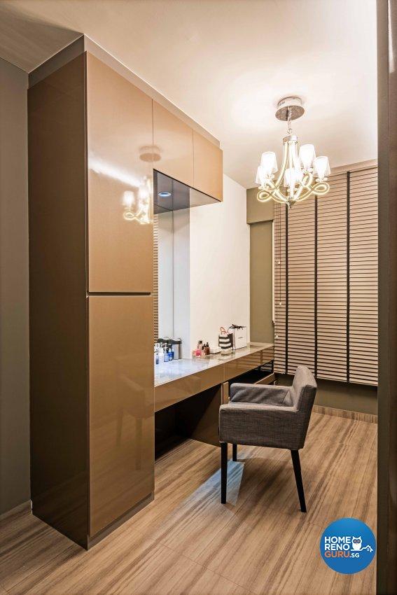 Contemporary, Modern, Tropical Design - Bedroom - HDB 3 Room - Design by Luxurious Design Pte Ltd